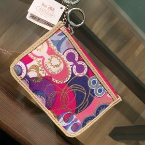 Coach Mini Skinny ID Case/ Keychain